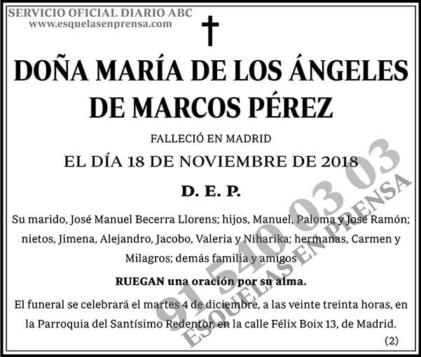 María de los Ángeles de Marcos Pérez